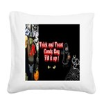 Halloween Witch Trick and Treat Square Canvas Pill