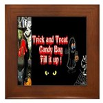Halloween Witch Trick and Treat Framed Tile