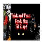 Halloween Witch Trick and Treat Tile Coaster