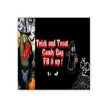 Halloween Witch Trick and Treat Square Sticker 3