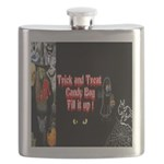 Halloween Witch Trick and Treat Flask