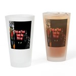 Halloween Witch Trick and Treat Drinking Glass