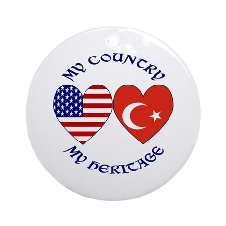 Turkey Country Heritage Ornament (Round)