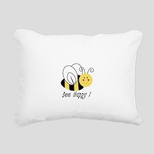 Bee Happy Rectangular Canvas Pillow