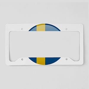 Swedish Button License Plate Holder
