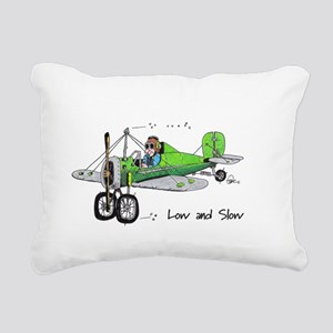 Low and Slow Rectangular Canvas Pillow