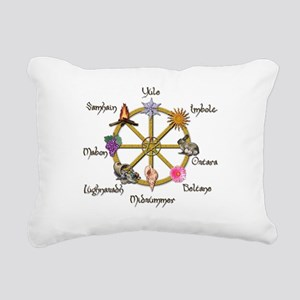 Wheel of the Year 1 Rectangular Canvas Pillow