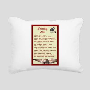 Starling Law Rectangular Canvas Pillow