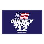 CheneySatan_Oval Sticker (Rectangle 50 pk)