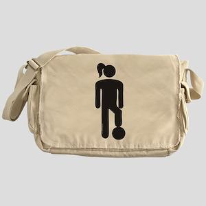 Female Soccer Player Messenger Bag