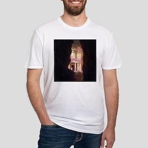 Frederick Edwin Church Petra Fitted T-Shirt