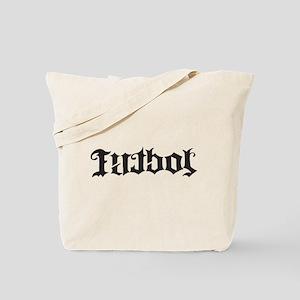 Futbol Soccer Black Design Tote Bag