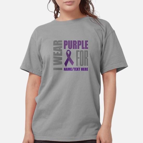 Purple Awareness Ribbo Womens Comfort Colors Shirt