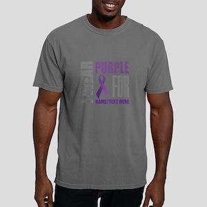 Purple Awareness Ribbon Mens Comfort Colors Shirt