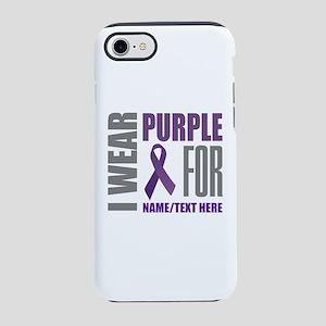Purple Awareness Ribbon Custom iPhone 7 Tough Case