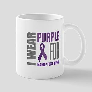 Purple Awareness Ribbon Customiz 11 oz Ceramic Mug