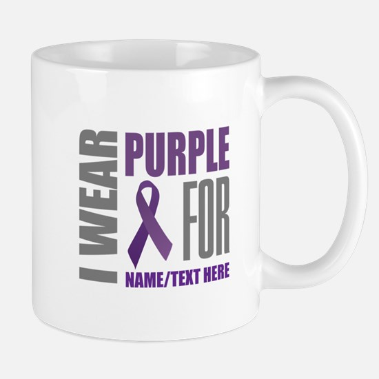 Purple Awareness Ribbon Customiz Mug