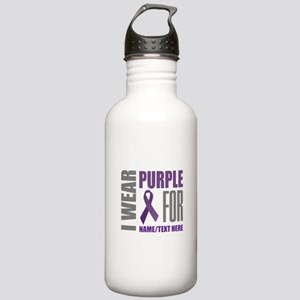 Purple Awareness Ribbo Stainless Water Bottle 1.0L
