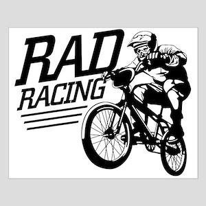 Retro RAD BMX Racing Small Poster