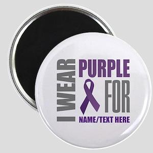 Purple Awareness Ribbon Customized Magnet