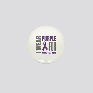 Purple Awareness Ribbon Customized Mini Button