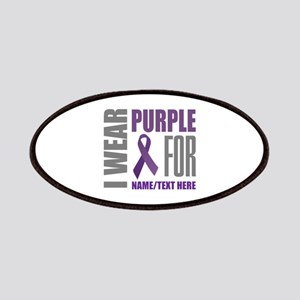 Purple Awareness Ribbon Customized Patch