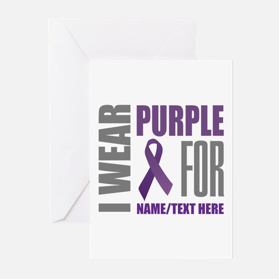 Purple Awareness Ribbon Greeting Cards (Pk of 20)