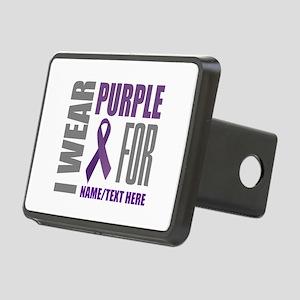 Purple Awareness Ribbon Cu Rectangular Hitch Cover