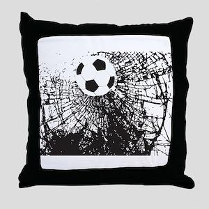 Shattered Glass Ball Throw Pillow