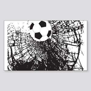 Shattered Glass Ball Sticker (Rectangle)