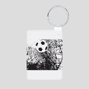 Shattered Glass Ball Aluminum Photo Keychain