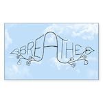breathe oval sticker Sticker (Rectangle 50 pk)