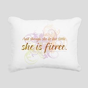 She is Fierce - Swirl Rectangular Canvas Pillow