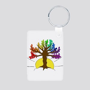 The Giving Tree Aluminum Photo Keychain