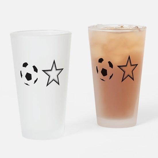 Soccer Star Drinking Glass