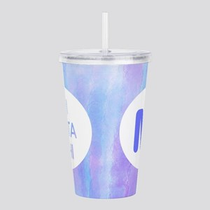 Pi Beta Phi Watercolor Acrylic Double-Wall Tumbler