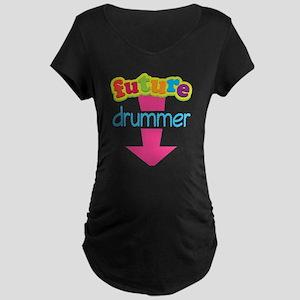 Future Drummer Music Maternity Dark T-Shirt