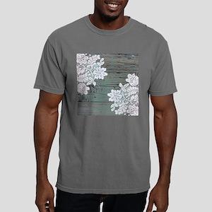 primitive lace teal barn Mens Comfort Colors Shirt