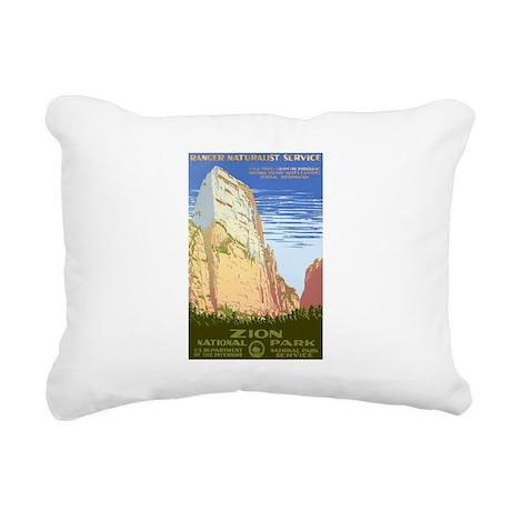 1930s Vintage Zion National Park Rectangular Canva