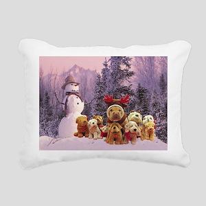 Snowman Shar Pei Rectangular Canvas Pillow