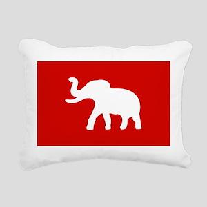 USA Elephant Rectangular Canvas Pillow