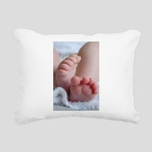 Baby Feet Rectangular Canvas Pillow