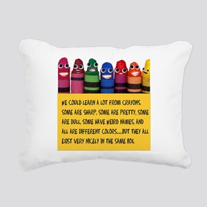 Peaceful Crayons Rectangular Canvas Pillow