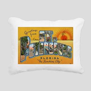 St. Petersburg Postcard Rectangular Canvas Pillow