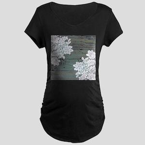 primitive lace blue barnwood Maternity T-Shirt