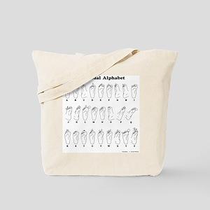 The Pedal Alphabet Tote Bag