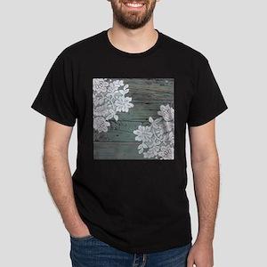 primitive lace blue barnwood T-Shirt