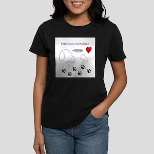 Veterinary Technician-Paw Prints on T-Shirt