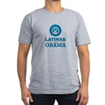 Latinas for Obama Men's Fitted T-Shirt (dark)