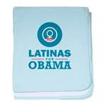 Latinas for Obama baby blanket